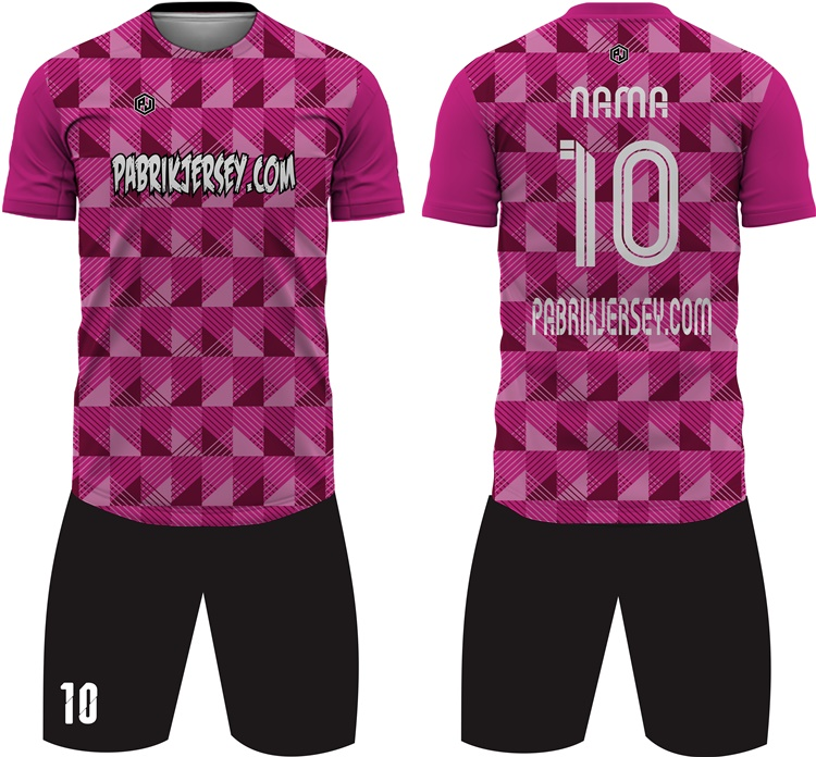 Desain baju bola pink