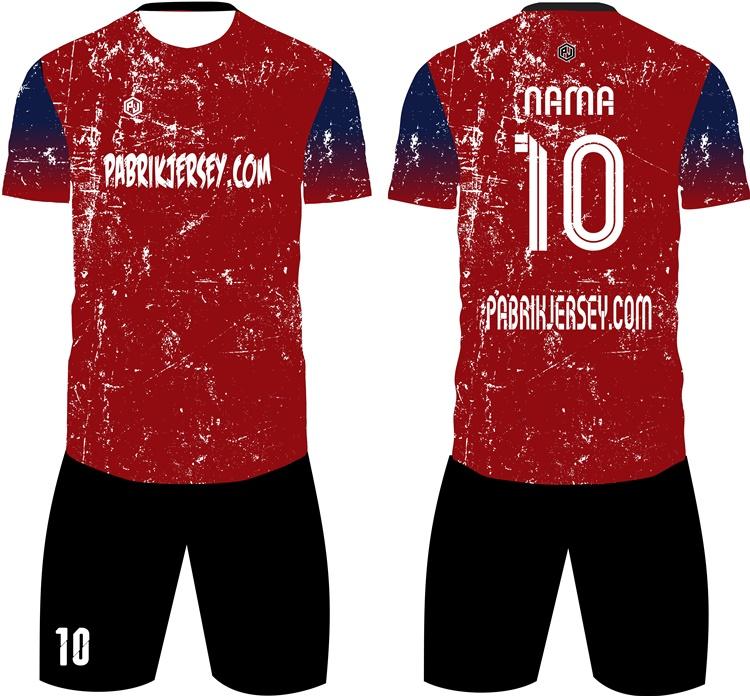 design baju bola merah marun